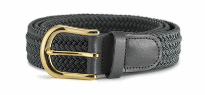 30mm Stretch Belt with Gold Coloured Buckle
