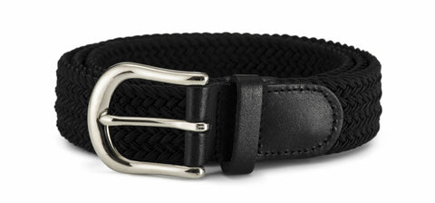 30mm Stretch Belt with Silver Coloured Buckle
