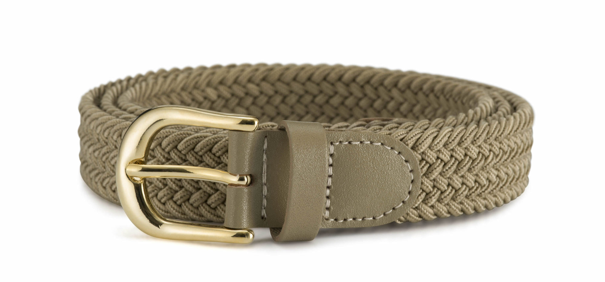 "Ladies 1"" (25mm) Stretch Belt with Gold Buckle"