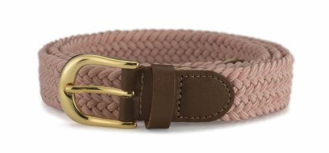 "Ladies 1"" Stretch Belt with Gold Buckle"