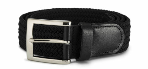 35mm Stretch Belt with Silver Coloured Buckle