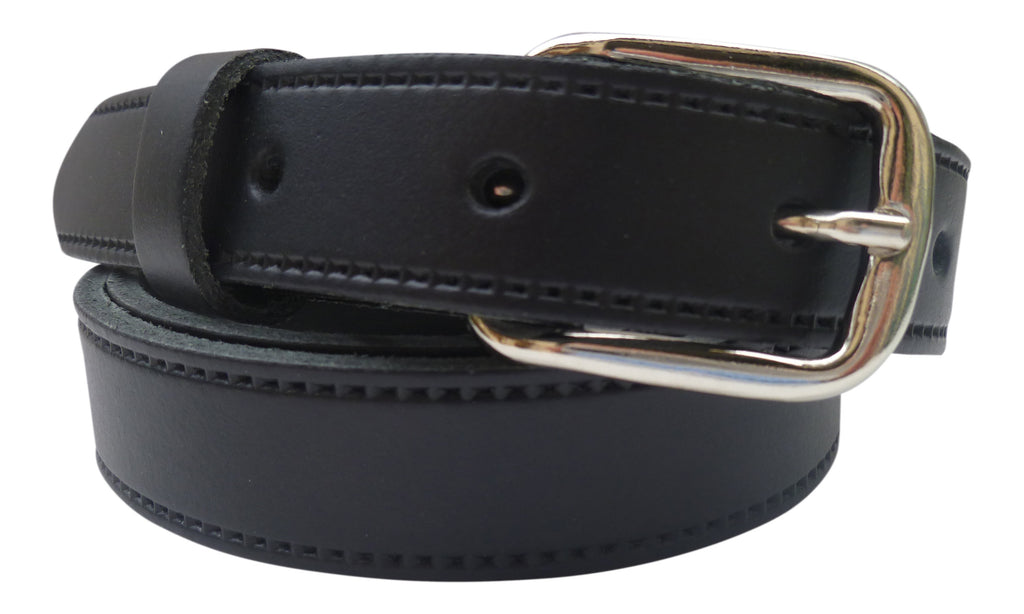 Kids Real Leather Belt with Silver Buckle