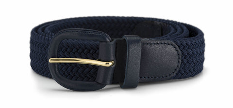 30mm Stretch Belt with Leather Covered Buckle