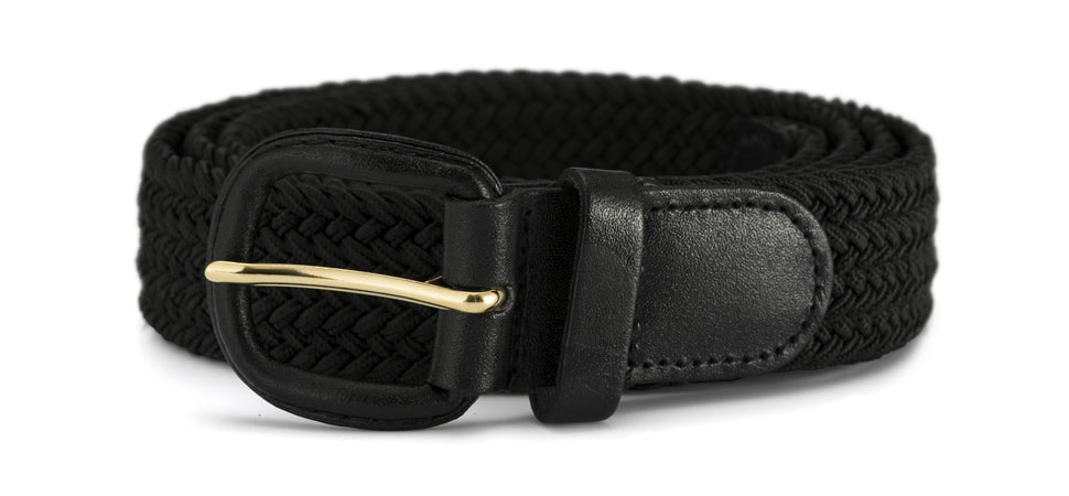 30mm stretch belt with gold buckle