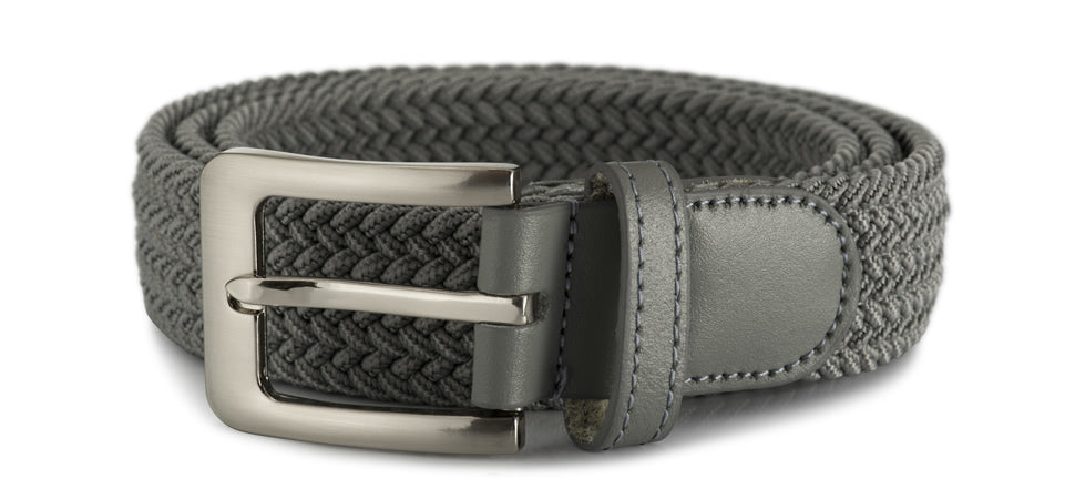 32mm stretch belt with silver buckle