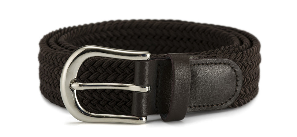 30mm stretch belt with silver buckle
