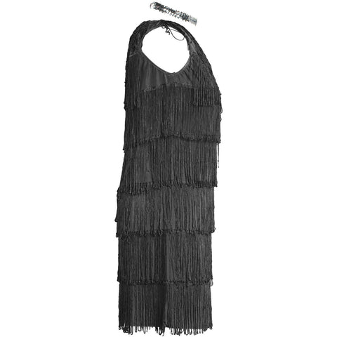 Image of 1920s Black Flapper Fancy Dress Costume Womens  UK Sizes 8-16 - UK Fancy Dress at Emmas
