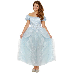 Blue Princess Ladies Fancy Dress Costume Hen Fairytale UK 8 10 12 - UK Fancy Dress at Emmas
