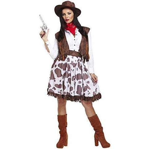 Emmas Wardrobe Cowgirl Fancy Dress Costume for Women - Jessie Outfit Ladies UK Size 8-16 - UK Fancy Dress at Emmas