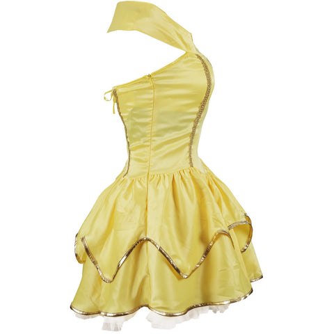 Image of Yellow Princess Fancy Dress Costume Ladies UK Sizes 6-16 - UK Fancy Dress at Emmas