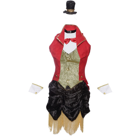 Ringmaster Circus Fancy Dress Costume for Halloween, Hen Parties or Carnivals - Ladies UK Sizes 8-14 - UK Fancy Dress at Emmas