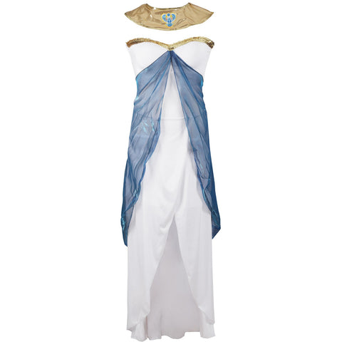 Image of Queen Cleopatra Ladies Fancy Dress Costume UK Size 8-14 - UK Fancy Dress at Emmas