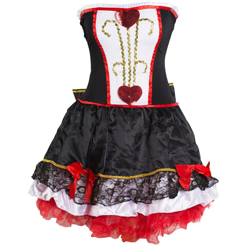 Queen of Hearts Fancy Dress Costume Ladies UK Size 6-16 - UK Fancy Dress at Emmas