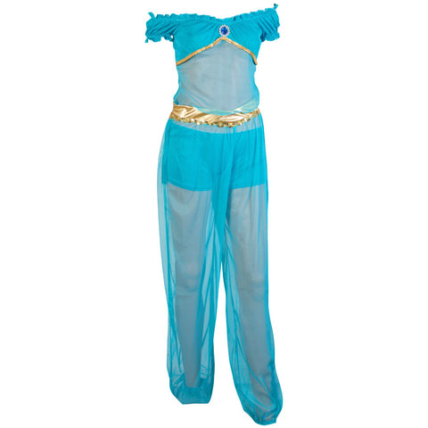 Image of Arabian Princess Genie Ladies Fancy Dress Costume UK Sizes 6-12 - UK Fancy Dress at Emmas