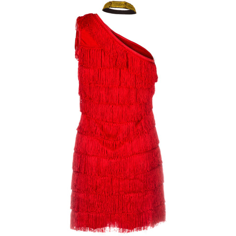 Image of 20s Red Flapper Fancy Dress Costume-Womens UK Sizes 8-16 - UK Fancy Dress at Emmas