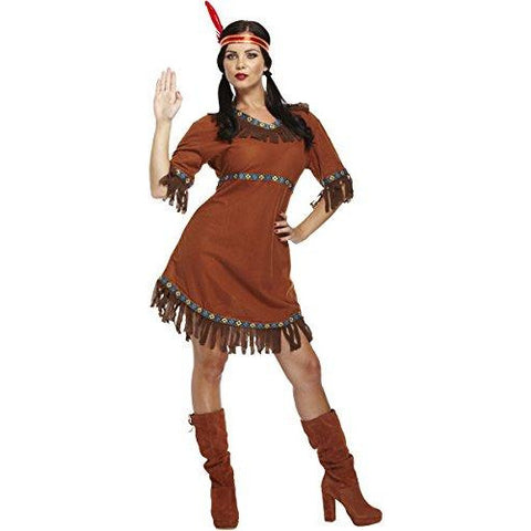 Womens Native Indian Costume Pocahontas Costume for Halloween UK Sizes 8-12 - UK Fancy Dress at Emmas