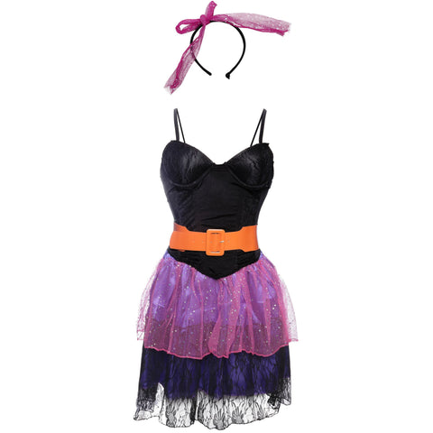 Image of 80's Pop Star Ladies Fancy Dress Costume Size 8 10 12 14 - UK Fancy Dress at Emmas