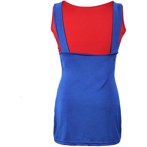 Image of 80's Mario Red  Ladies Fancy Dress UK Size 6-14 - UK Fancy Dress at Emmas