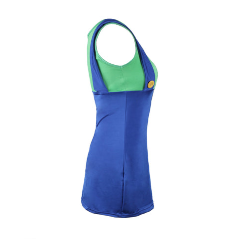 Image of 80's Luigi Green Ladies Fancy Dress UK Size 6-14 - UK Fancy Dress at Emmas