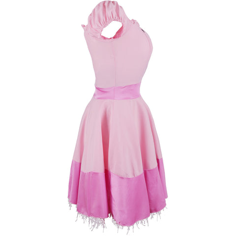 Image of Pink Princess  Dress or 80's Princess Peach Costume  Ladies UK Sizes 8-16 - UK Fancy Dress at Emmas