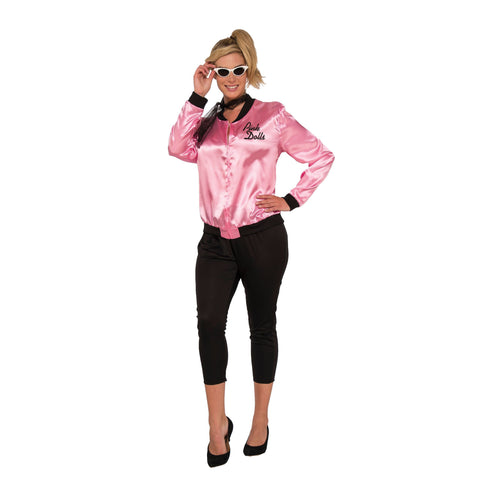 1950s Pink Jacket | Ladies Pink Jacket and Black Leggings | 50s Retro Outfit