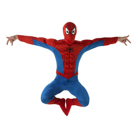 Deluxe Spider-man Fancy Dress | Marvel | Padded Jumpsuit and Mask
