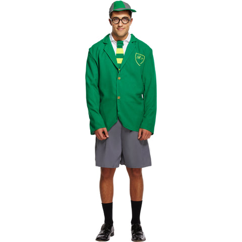 School Fancy Dress Costume for Men - Outfit UK Size M-XL - UK Fancy Dress at Emmas