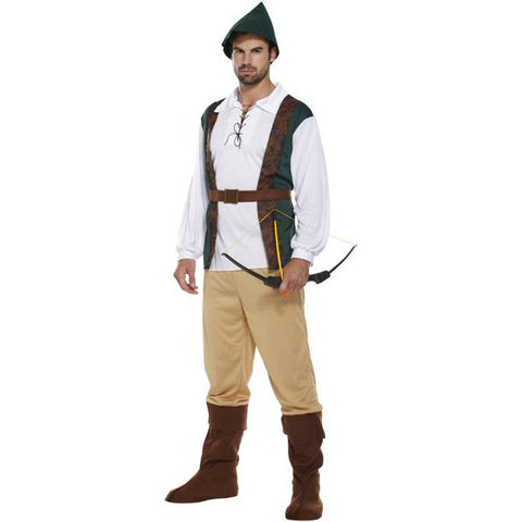Robin Hood Fancy Dress Costume -Oktoberfest or Elf/Pixie Halloween Stag Parties - UK Sizes M-XL - UK Fancy Dress at Emmas