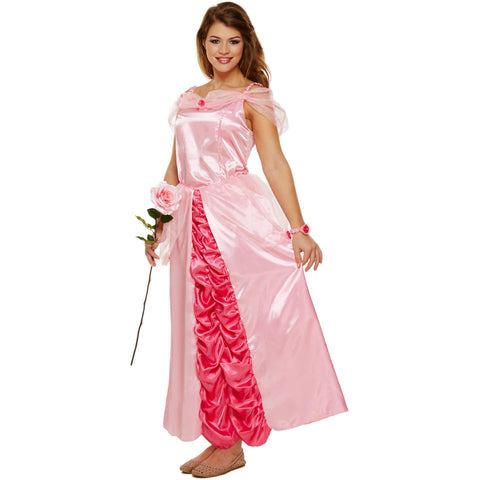 Pink Princess Fancy Dress Costume Ladies Fairy Tale UK 8 10 12 - UK Fancy Dress at Emmas