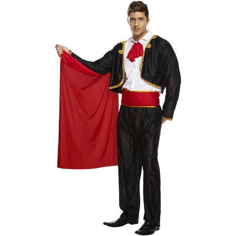 Spanish Matador Fancy Dress Mens Costume  Bull Fighter Halloween Stag Festival - UK Fancy Dress at Emmas