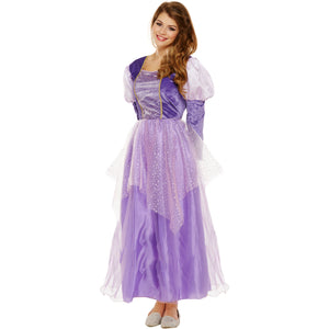 Purple Princess Fancy Dress Ladies Hen Birthday UK 8 10 12 - UK Fancy Dress at Emmas