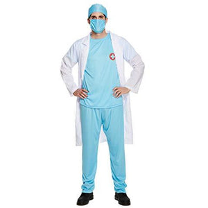Surgeon Scrubs Men Womens Ideal for Doctor /Hospital theme party Halloween- Size M -XL - UK Fancy Dress at Emmas