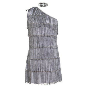 1920s Grey Flapper Fancy Dress Costume Womens UK Sizes 8-16 - UK Fancy Dress at Emmas