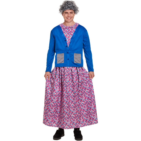 Emmas Wardrobe Granny Fancy Dress Costume for Adults