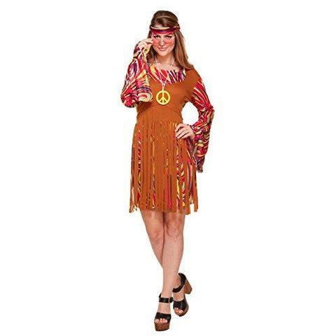 60s 70s fancy dress costume for Retro party – Ladies Flower Power Hippy Outfit in UK Size 8-12 - UK Fancy Dress at Emmas