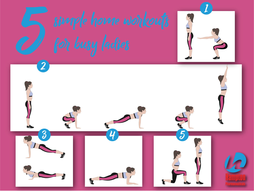 5 Simple Home Workouts For Busy Ladies