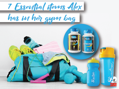7 Essential items Alex has in her gym bag