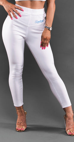 White Leggings-Side Slit (Glamour Line)