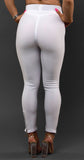 White Leggings-Zip (Glamour Line)