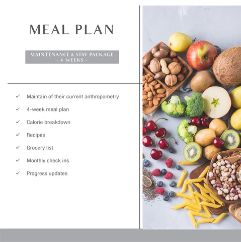 Maintenance & Stay (Meal Plan)