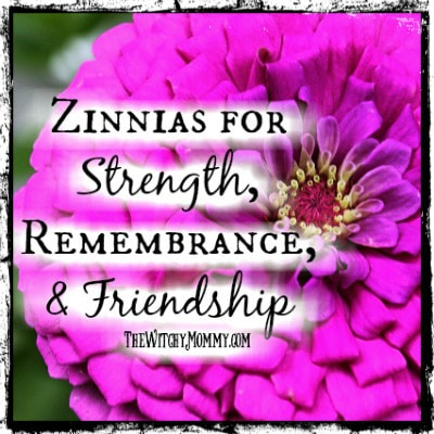 Crafting Magick Tip: Zinnia Flowers