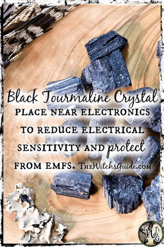 Black Tourmaline Crystal Tip, How to Use Black Tourmaline Crystal, The Witch's Guide