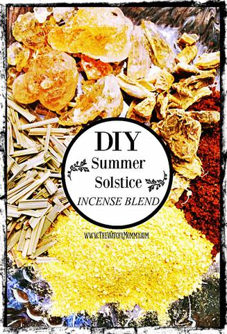 DIY Summer Solstice Incense Blend Recipe, The Witchy Mommy