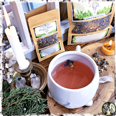 Make Your Own Magical Tea Blends, Hedge Rider Tea, The Witch's Guide
