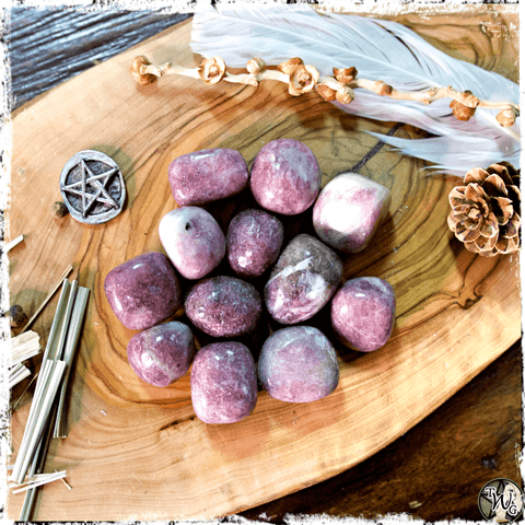 Lepidolite Crystals, Crystals for Uncertain Times, The Witch's Guide