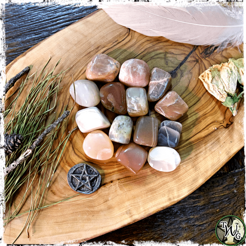 Moonstone Crystals, Crystals for Uncertain Times, The Witch's Guide