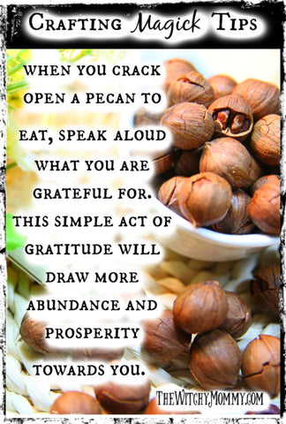 Crafting Magick Tip: Pecans