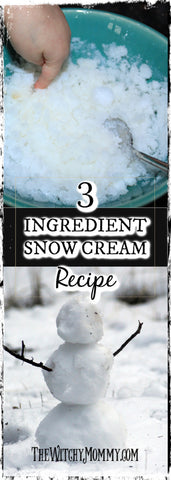 Snow Cream Recipe, The Magick of Snow