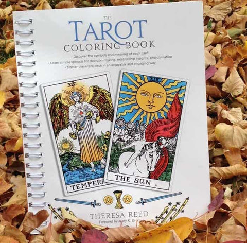 The Tarot Coloring Book by Theresa Reed, Building a Relationship with Tarot, Card of the Day, The Witch's Guide