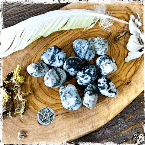 Tumbled Tree Agate Crystal for Earth Conservation, Tree Communication, Green Witch, The Witch's Guide